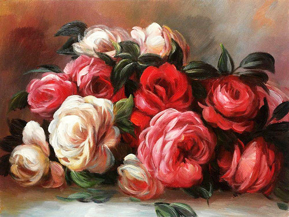 Auguste Renoir Discarded Roses Painting Reproduction