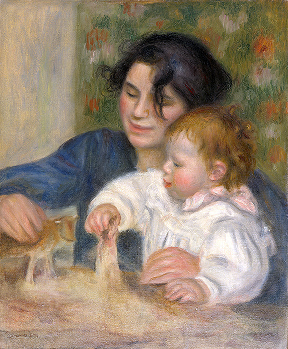 Auguste Renoir Gabrielle and Jean Painting