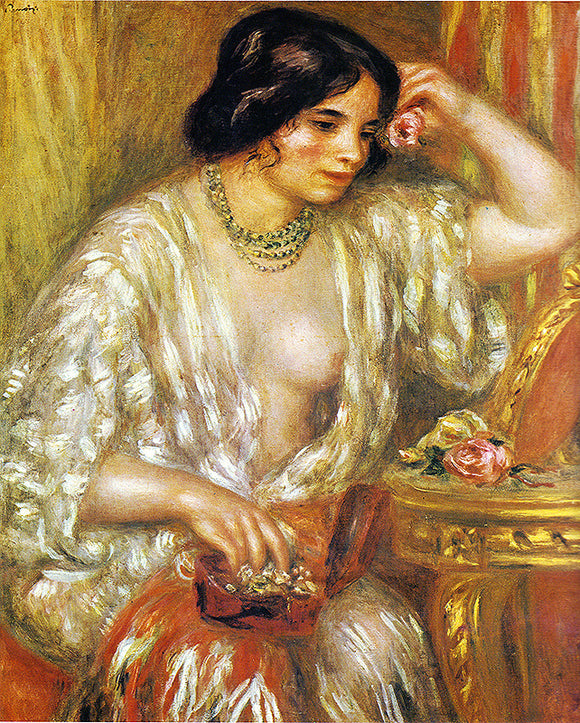Auguste Renoir Gabrielle with Jewelry Painting
