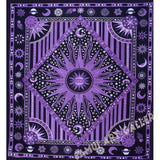 Zodiac Mandala Tapestry Celestial Wall Decor Burning Sun Dorm Hanging