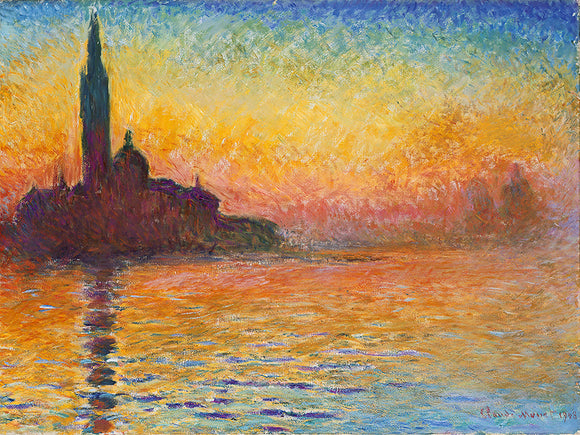 Claude Monet San Giorgio Maggiore by Twilight Painting