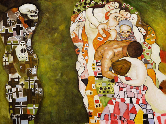 Death and Life Gustav Klimt Famous Painting Reproduction