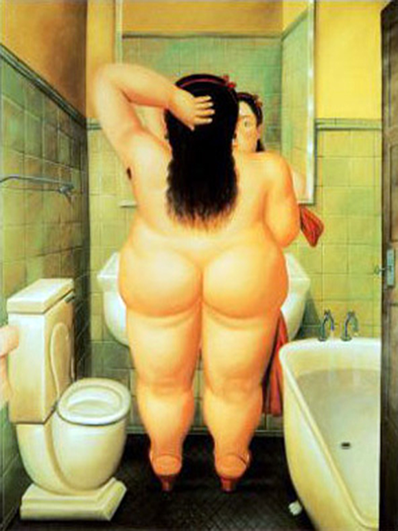 Bather by Fernando Botero Oil Painting Reproduction
