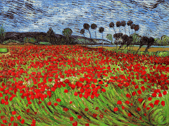 Field of Poppies Vincent Van Gogh Famous Painting Reproduction