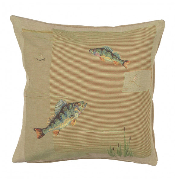 Fish French Cushion Tapestry Throw Pillow Case Cover