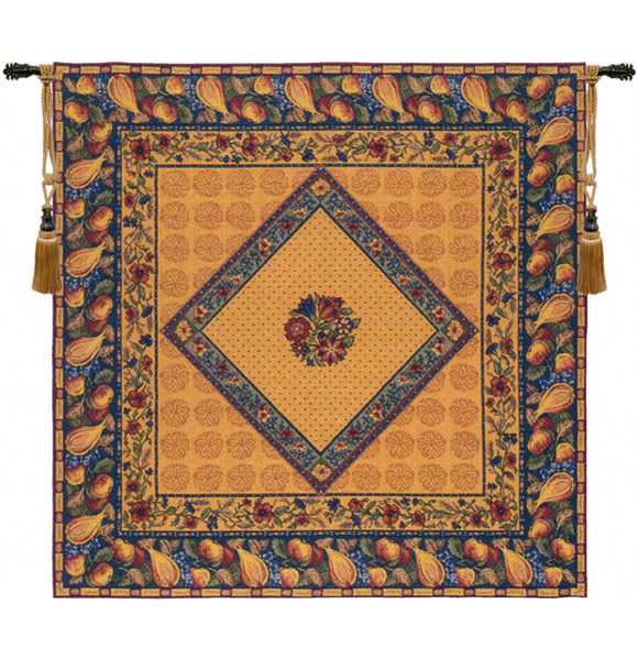 Floral Harvest French Tapestry Decorative Throw