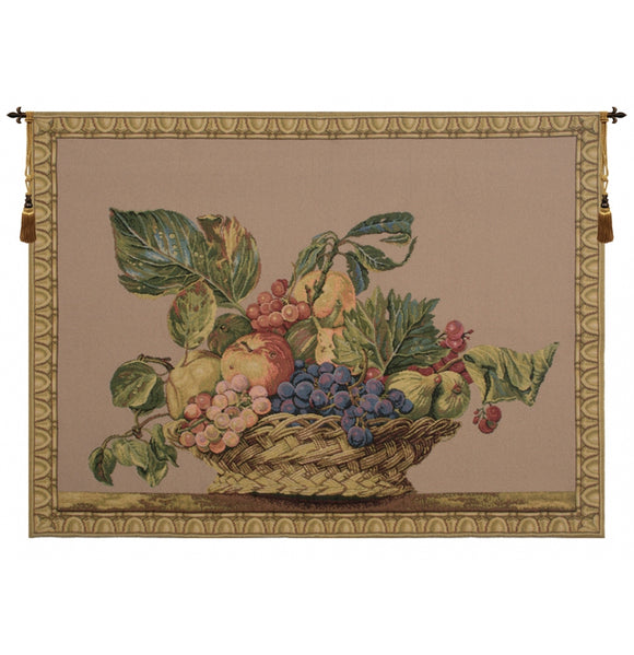 Fruit Basket Beige European Tapestry Wall Hanging