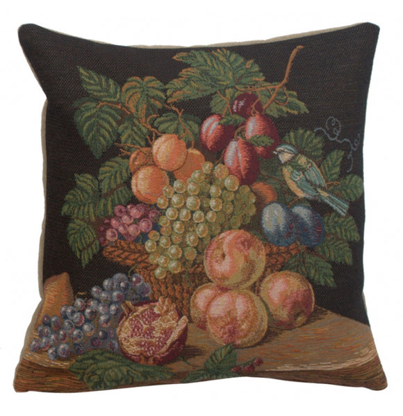 Fruit Basket French Cushion Tapestry Throw Pillow Case Cover