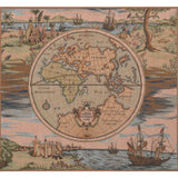 Map of the World French Cushion Tapestry Throw Pillow Case Cover