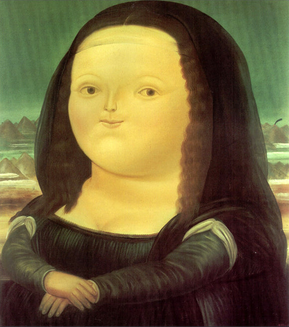 Mona Lisa by Fernando Botero Oil Painting Reproduction