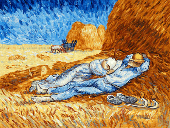 Noon : Rest From Work Vincent Van Gogh Famous Painting