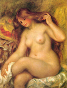 Auguste Renoir Bather with Blonde Hair Painting