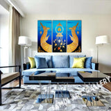 Royal Thai Supannahong Abstract Art On Canvas Framed