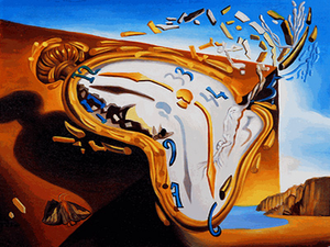 Soft Watch at the Moment of Explosion Salvador Dali