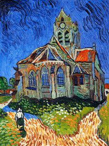 The Church at Auvers Vincent Van Gogh Famous Painting