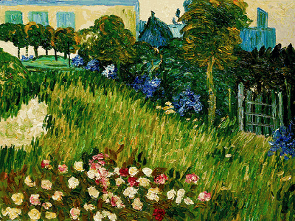 The Garden of Daubigny Vincent Van Gogh Famous Painting