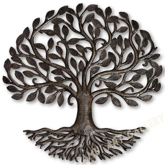 Tree of Life with Roots Metal Wall Art Hanging Home Decor 23