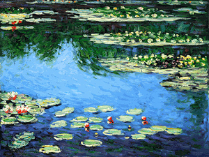Claude Monet Water Lilies Painting Reproduction