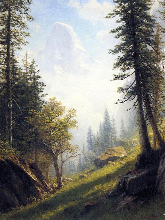 Albert Bierstadt Among the Bernese Alps