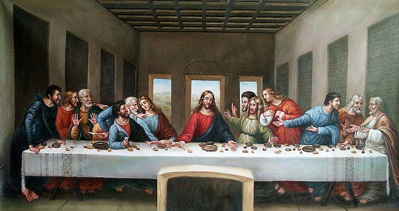 Da Vinci The Last Supper Oil Painting On Canvas