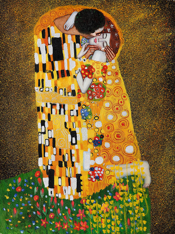 Klimt The Kiss Oil Painting Reproduction for Sale