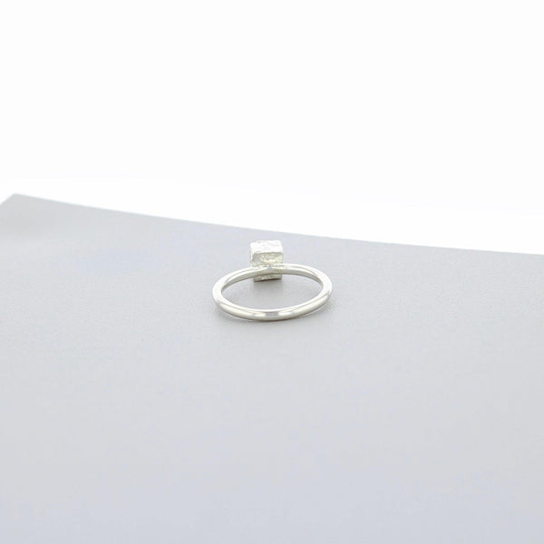 Cofio Cube: Silver Ring