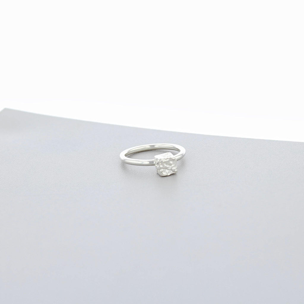 Cofio Cube: Silver Ring - Mari Thomas Jewellery