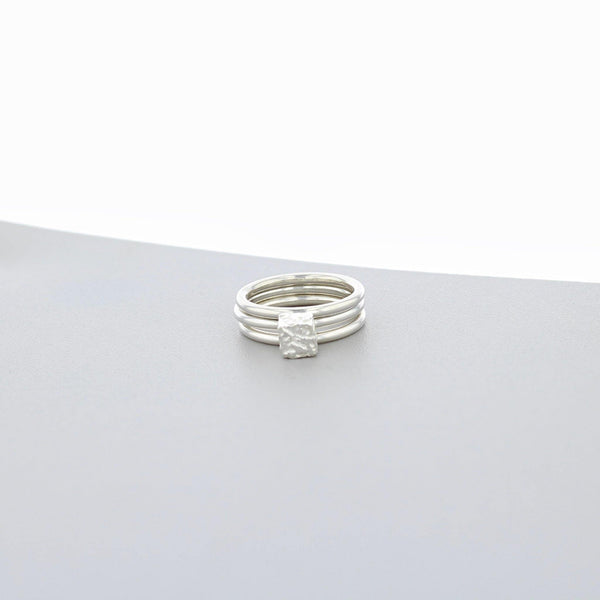 Cofio Cube: Silver Stacker Ring