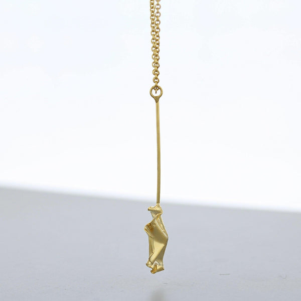 Decorative Concepts: small drop pendant, 23ct gold plated - Mari Thomas Jewellery