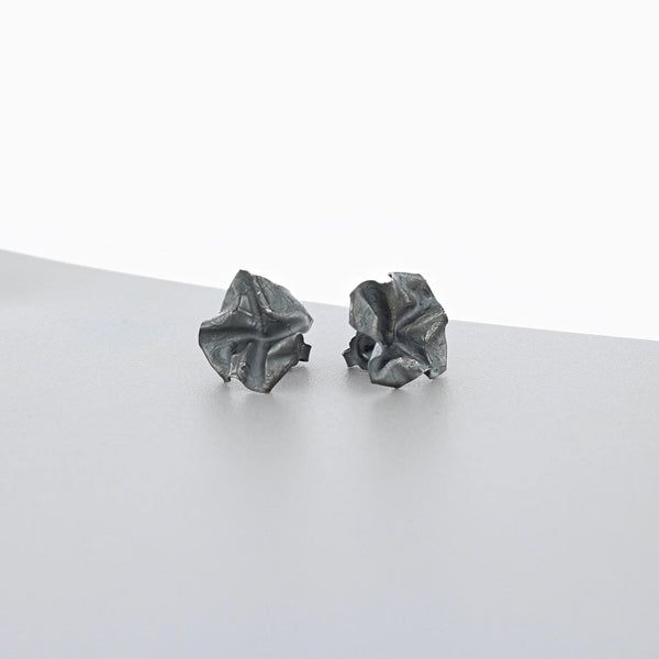 Decorative Concepts: large earrings, oxidised silver