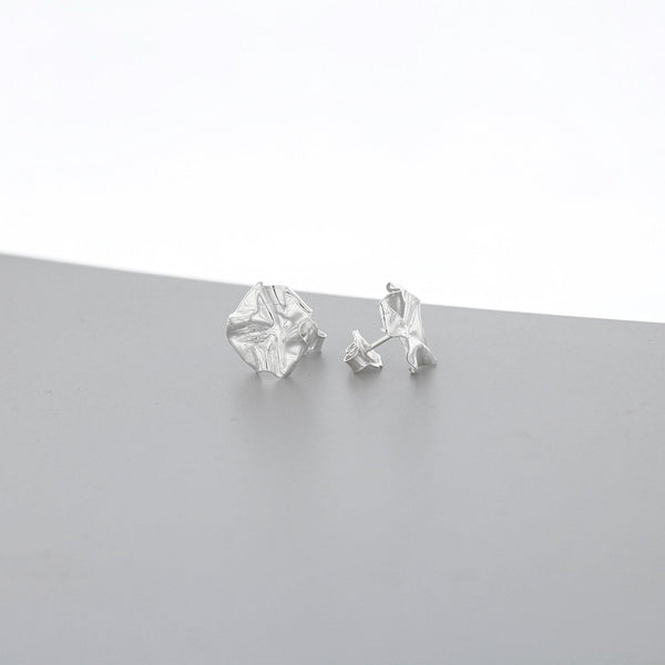 Decorative Concepts: medium earrings, silver