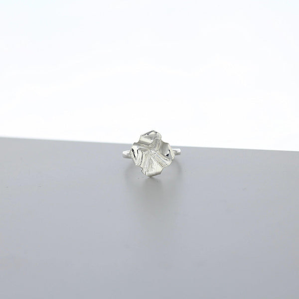 Decorative Concepts: small top ring, silver - Mari Thomas Jewellery