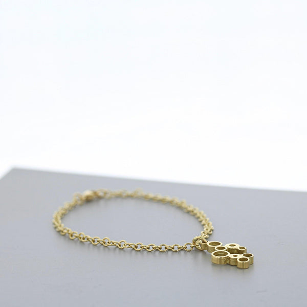 Bubbles: charm bracelet, 18ct yellow gold - Mari Thomas Jewellery