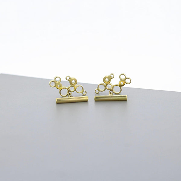 Bubbles: cufflinks, 18ct yellow gold - Mari Thomas Jewellery
