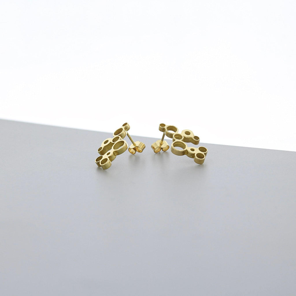 Bubbles: earrings, 18ct yellow gold