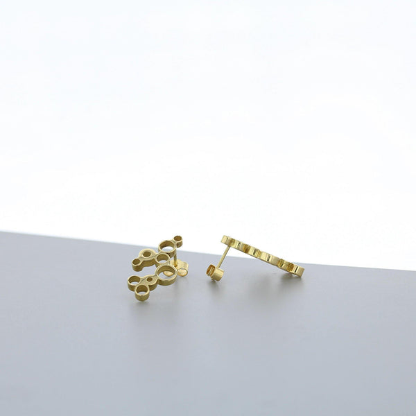 Bubbles: earrings, 18ct yellow gold - Mari Thomas Jewellery