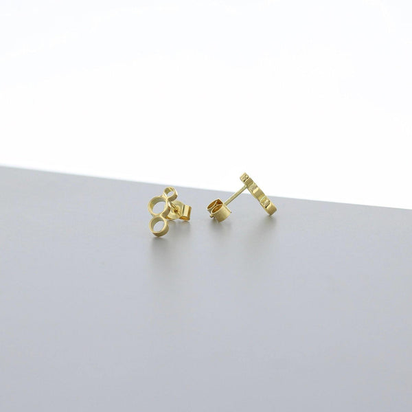 Bubbles: small earrings, 18ct yellow gold - Mari Thomas Jewellery