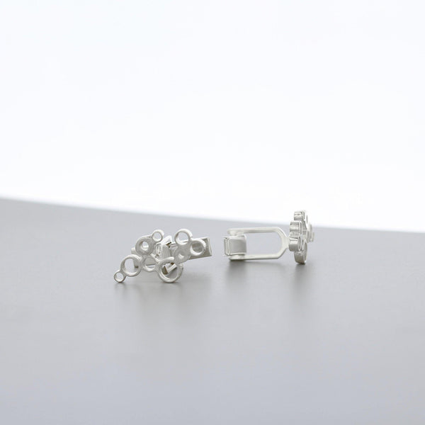 Bubbles: cufflinks, silver