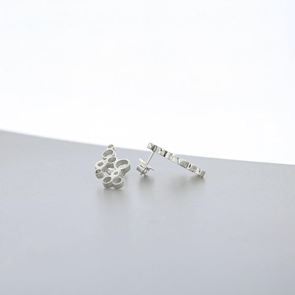 Bubbles: earrings, silver