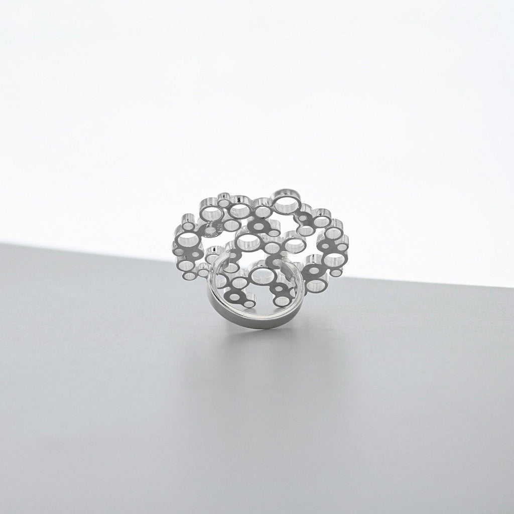 Bubbles: medium statement ring, silver - Mari Thomas Jewellery