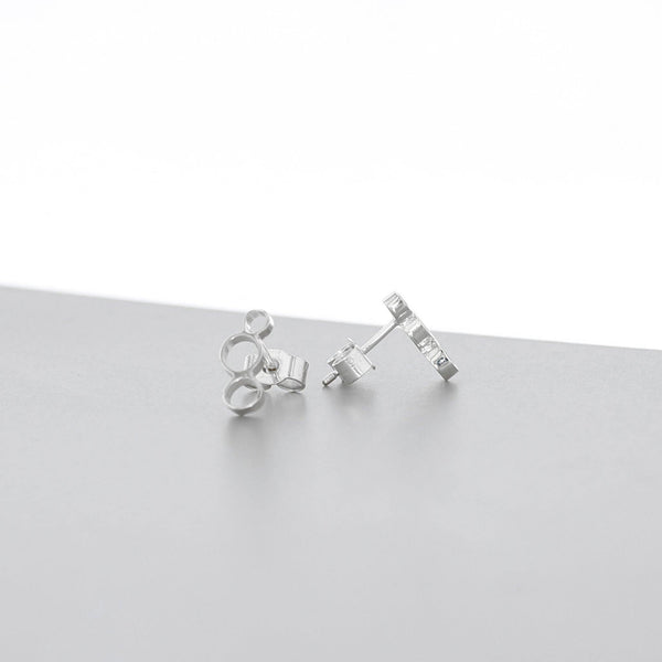 Bubbles: small earrings, silver