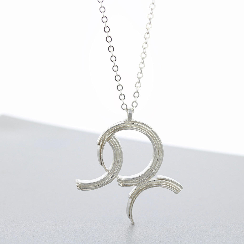 Crescent: Silver 3 arc pendant - Mari Thomas Jewellery
