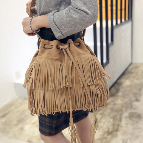 Fringe Tassel Messenger Bag