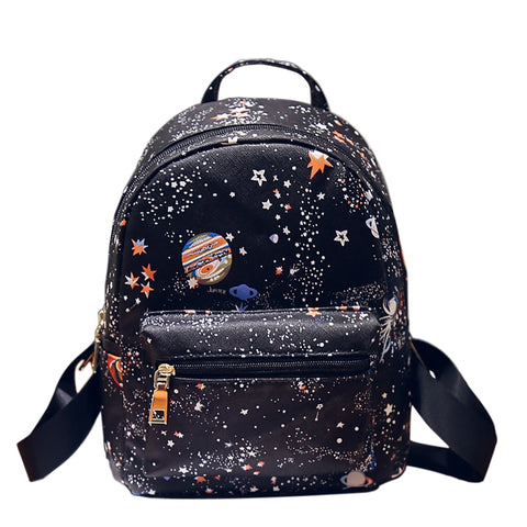 Galaxy Print Small Backpack