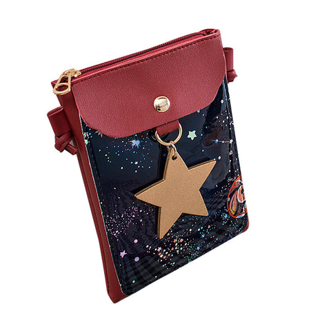 galaxy purse with star charm