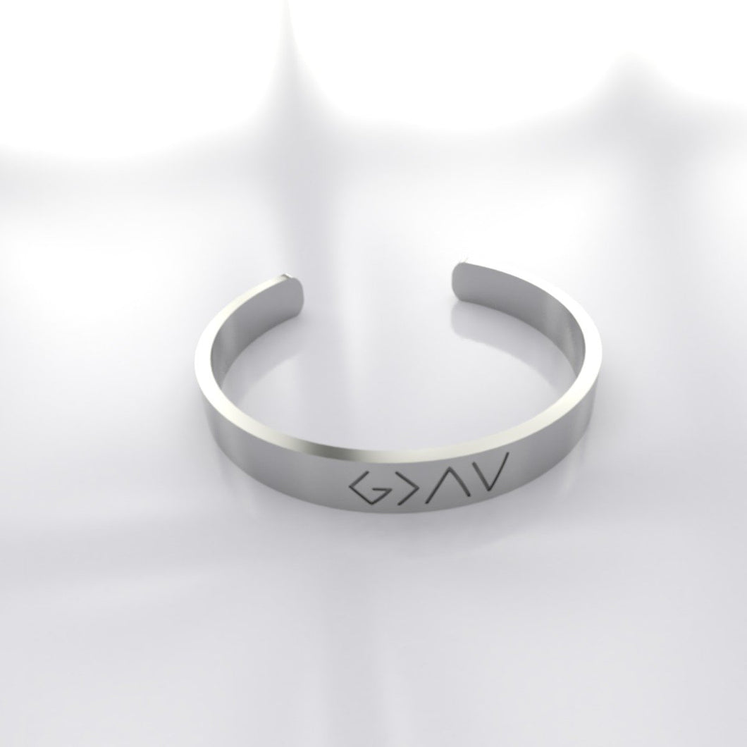 God is greater than the highs and lows ring