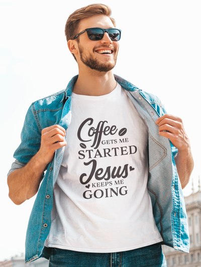 Jesus Keeps Me Going Christian Tee