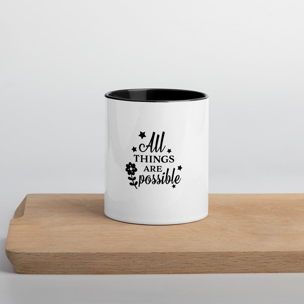 All things are possible inspiring coffee mug