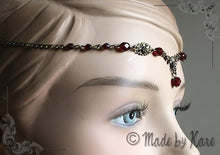 Charger l'image dans la galerie, Elfen Celtic Tiara Necklace Circlet Clear Fairy Wedding Bronze Choose your Beads Colors