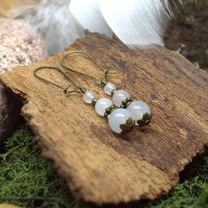 Boucles d'Oreilles Kendoniañ - Jaspe - Artisanat Made In Brocéliande - Bretagne - France - Lithothérapie